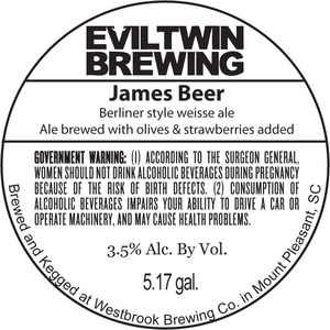 Evil Twin Brewing James Beer