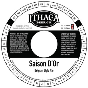 Ithaca Beer Company Saison D'or