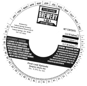 Yellow Springs Brewery First Lost Episode