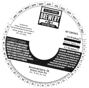 Yellow Springs Brewery Anniversary Ii