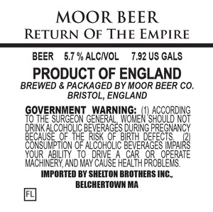 Moor Beer Return Of The Empire