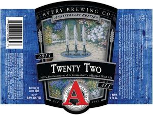Avery Brewing Company Twenty Two