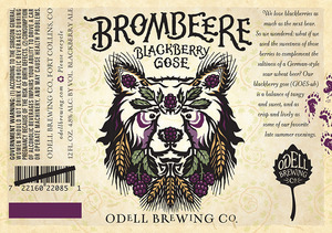 Odell Brewing Company Brombeere April 2015