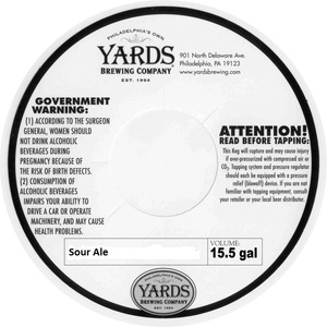 Yards Brewing Company Sour Ale