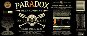 Paradox Beer Company Skully Barrel No. 26