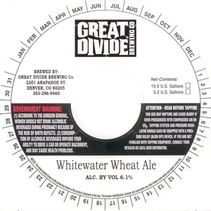 Great Divide Brewing Company Whitewater