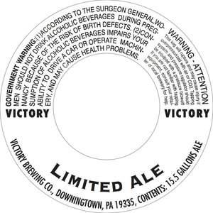 Victory Limited Ale
