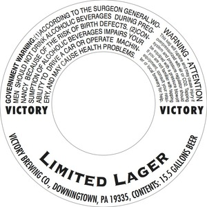 Victory Limited Lager