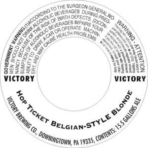 Victory Hop Ticket Belgian-style Blonde