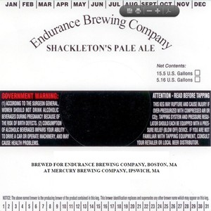 Endurance Brewing Company Shackleton's Pale