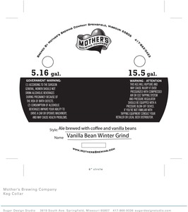 Mother's Brewing Company Vanilla Bean Winter Grind