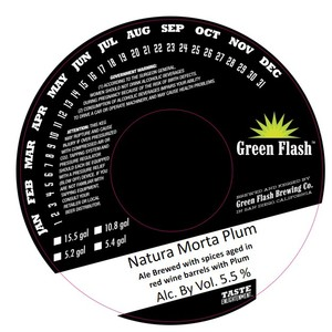 Green Flash Brewing Company Natura Morta Plum