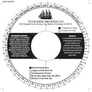 Tuckahoe Brewing Company Meadowbank Beer