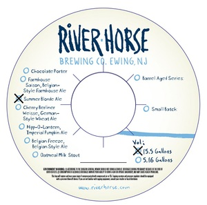 River Horse Brewing Co Ewing Township New Jersey 08628 Beer