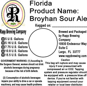 Rapp Brewing Company Broyhan