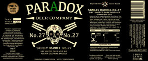 Paradox Beer Company Skully Barrel No. 27