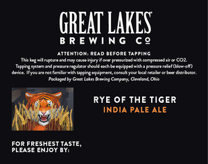 The Great Lakes Brewing Co. Rye Of The Tiger