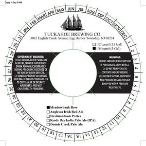 Tuckahoe Brewing Company Meadowbank Beer April 2015
