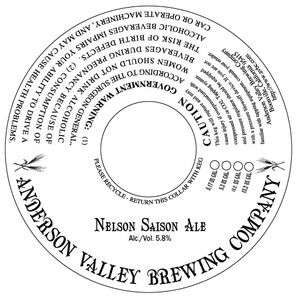 Anderson Valley Brewing Company Nelson Saison