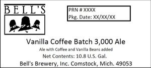 Bell's Vanilla Coffee Batch 3,000 Ale