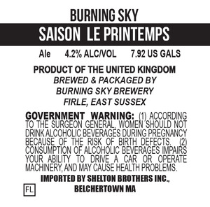 Burning Sky Saison Le Printemps