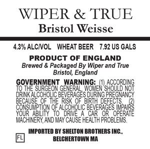 Wiper & True Bristol Weisse