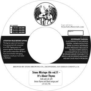 Stone Brewing Co Stone Mixtape Ale Vol.11