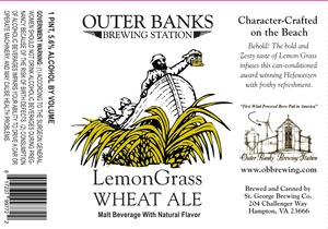 Outer Banks Brewing Station Lemon Grass Wheat Ale