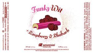 Perennial Artisan Ales Funky Wit +raspberry & Rhubarb