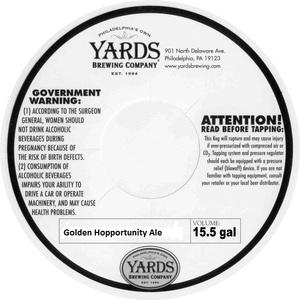 Yards Brewing Company Golden Hopportunity Ale