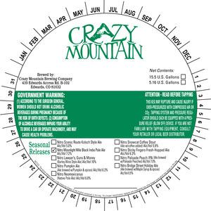 Crazy Mountain Brewing Company Nitro Moonlight Mile