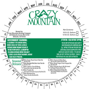 Crazy Mountain Brewing Company Nitro Scenic Route