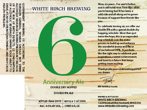 White Birch Brewing 6 Anniversary