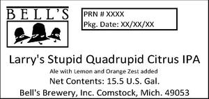 Bell's Larry's Stupid Quadrupid Citrus IPA
