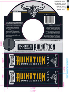 Stone Brewing Co Double Dry Hopped Stone Ruination 2.0