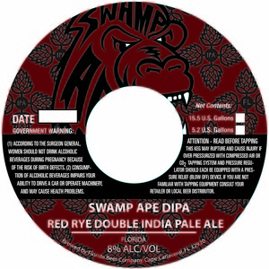 Swamp Ape Dipa Red Rye Double India Pale Ale