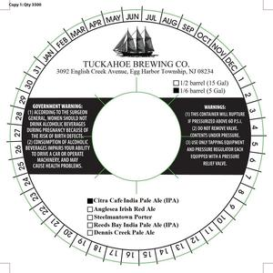 Tuckahoe Brewing Company Citra Cafe India Pale Ale (ipa)