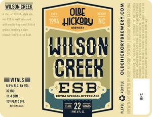Brasserie Olde Hickory Wilson Creek Esb