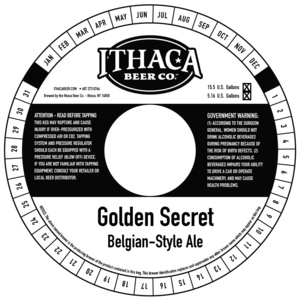 Ithaca Beer Company Golden Secret