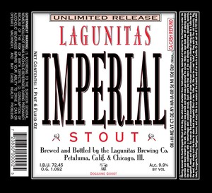 The Lagunitas Brewing Company Imperial Stout