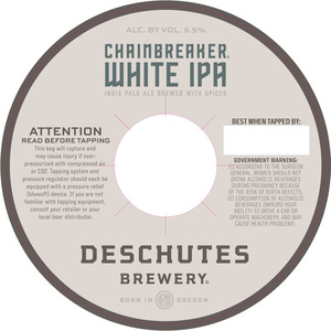 Deschutes Brewery Chainbreaker