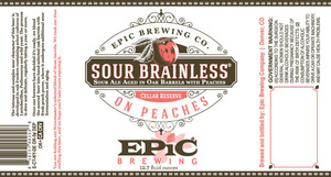 Epic Brewing Company Sour Brainless On Peaches