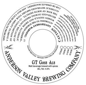 Anderson Valley Brewing Company Gt Gose
