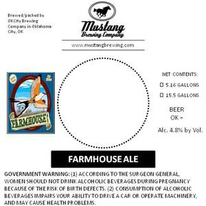Mustang Brewing Company Farmhouse Ale