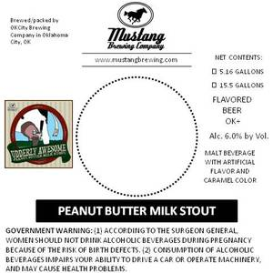 Mustang Brewing Company Peanut Butter Milk Stout