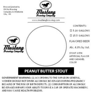 Mustang Brewing Company Peanut Butter Stout