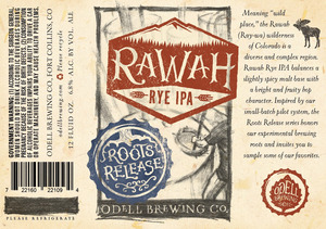 Odell Brewing Company Rawah