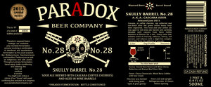 Paradox Beer Company Skully Barrel No. 28