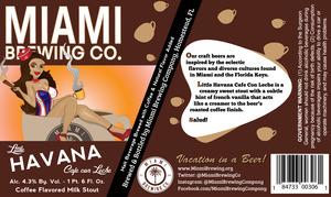 Miami Brewing Company Little Havana Cafe Con Leche Milk Stout