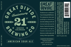 Great Divide Brewing Company 21st Anniversary